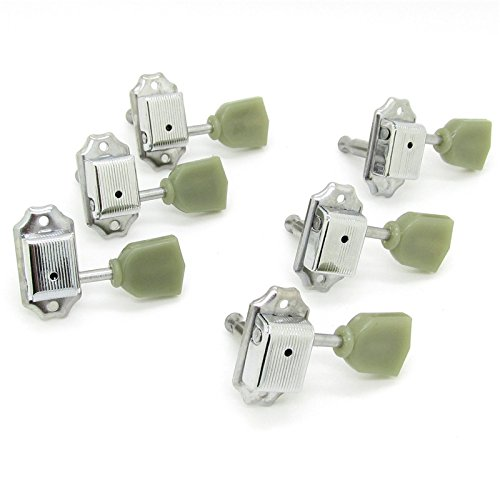 3R3L Green Tulip Button Machine Heads Tuning Pegs Tunner For LP Classical Guitar
