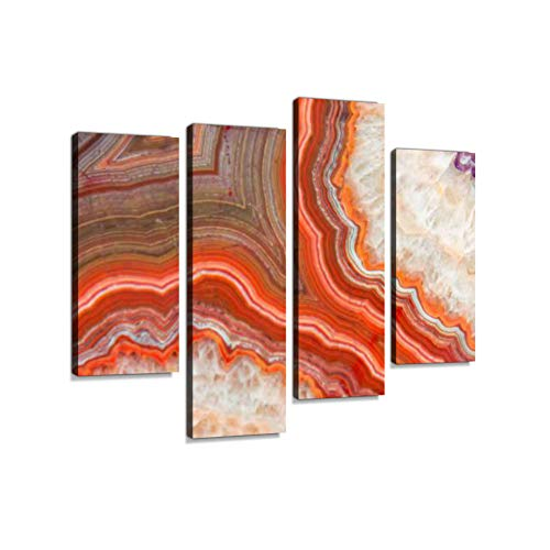 Red Agate mineralCanvas Wall Art Hanging Paintings Modern Artwork Abstract Picture Prints Home Decoration Gift Unique Designed Framed 4 - Agate Red Picture