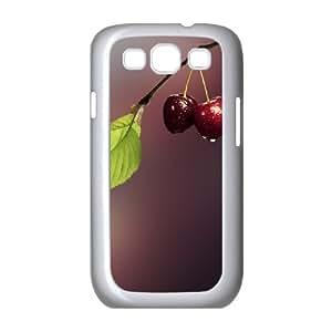 Vety Cherry Samsung Galaxy S3 Cases Two Cherries, Cherry [White]