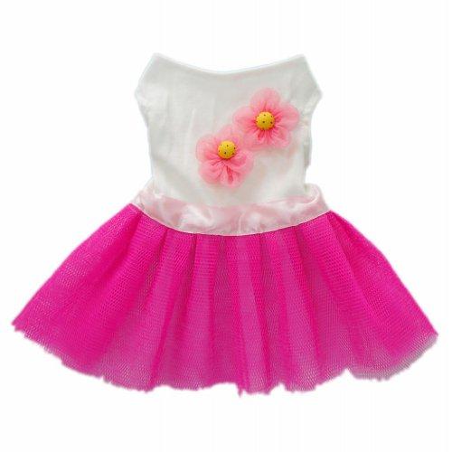 Sun Flower Pink Dog Dress for Dog Clothes Stylish Cozy Dog Shirt Pet Shirt,M, My Pet Supplies