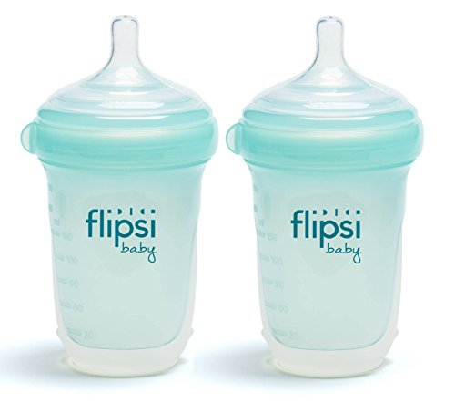 Flipsi Natural Silicone Baby Bottle | 8 oz - Natural, BPA-Fr