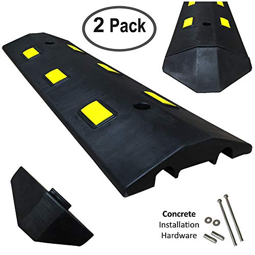 (Electriduct Ultra Light Weight Economy Speed Bump - Black - 2 Pieces (6 Feet) - Concrete)