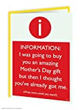 Funny Humorous 'Mother's Day Amazing Gift' Greetings Card Bild