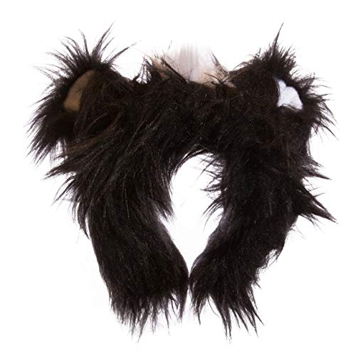 Wildlife Tree Plush Skunk Ears Headband Accessory for Skunk Costume, Cosplay, Pretend Animal Play or Forest Animal Costumes -