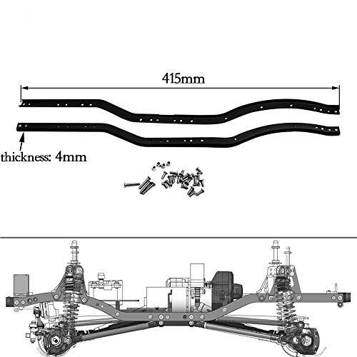 1 Pair 1/10 Scale RC Car Part SCX10 90046 Main Frame Black