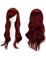 Lange Krullend Pruiken voor Vrouwen Golvend Haar Pruik Synthetisch Haar Gekleurde Ariel Custome Party Cosplay Pruik