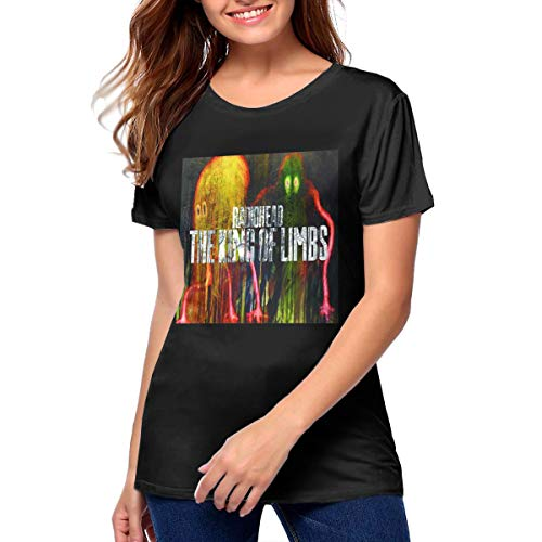 Radiohead The King of Limbs Woman's Soft Breathable Youth Girls T-Shirt XL Black