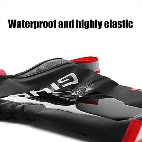 Yiwa Couvre-Chaussures de V/élo Verrouiller Chaussure Montagne Route V/élo Coupe-Vent Anti-poussi/ère /Équipement D/équitation en Plein Air