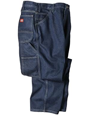 Mens LU200 Industrial Carpenter Jean-WRINKLED TINT INDIGO BLUE