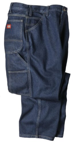 "Dickies Occupational Workwear Lu200rnb3830 Lu200 Industrial Carpenter Denim Jean, Fabric, 38"" X 30"", Rinsed Indigo Blue"