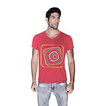 Creo Abstract 03 Retro T-Shirt For Men - L, Pink