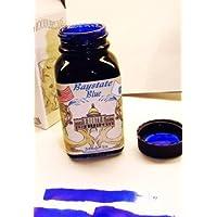 La marca de lujo Noodler's Bottle, 3 onzas, relleno Baystate, azul (19048)