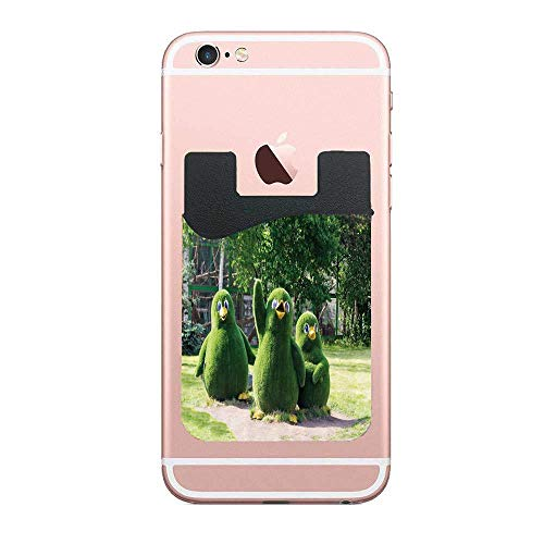 (Cellcardphone Sweet Waving Wing Penguin Figures from Topiary Bushes Greeting at Zoo Photo Card Holder for Back of Phone Wallet Functioning as Credit Card Holder, Phone Wallet and iPhone)
