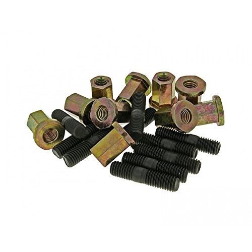 Naraku exhaust stud bolt set M6/ x M6/ Pack of 10