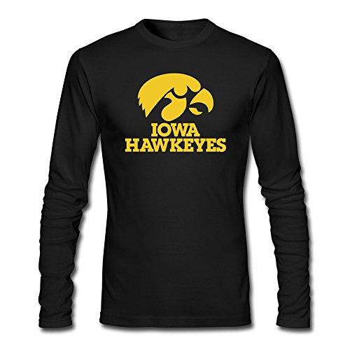 Price comparison product image Sasha Men's Iowa Hawkeyes Tshirts Black 100% Cotton