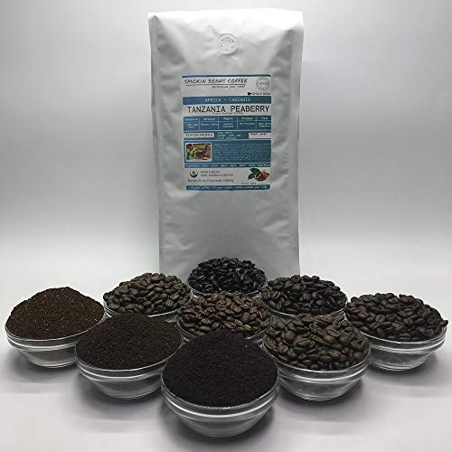 5 Pounds - Southern Africa - Tanzania Peaberry - Roasted To Order Arabica Coffee - Order Today/We Roast Today - Choose Roast Level (Light /Blonde /Medium /Med-Dark /Dark /Italian) (Whole Bean /Ground)