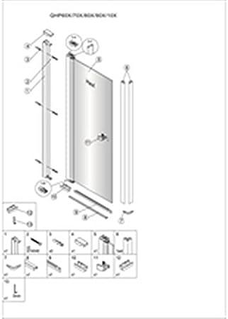 Alterna – Mampara de ducha Domino pivotante 60 cm: Amazon.es: Hogar