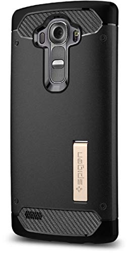 Spigen Rugged Armor Case LG G4 Case with Flexible and Durable Shock Absorption with Carbon Fiber Design for LG G4 (2015) - Black