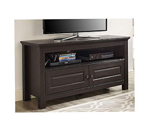 Wood & Style Furniture Walker Edison 44 inches Cortez TV Stand Console Espresso Premium Office Home Durable Strong