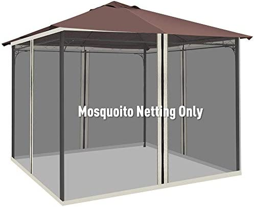 Outsunny Replacement Mesh Mosquito Netting Screen Wall