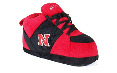 (NEB01-4 - Nebraska Cornhuskers - X Large - Happy Feet Men's and Womens NCAA Slippers)