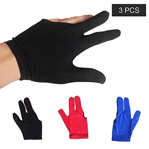 Pro Billiard Glove by Fortuna Fits Either Hand Black