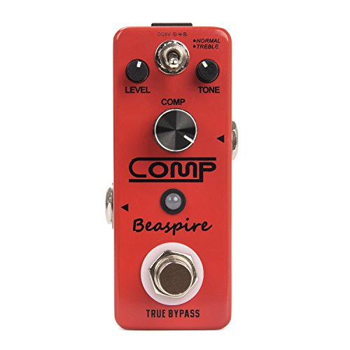 Guitar Pedal Musical Instruments (Beaspire Compressor Pedal Ultimate Comp Dynamics Guitar Effect Pedal True Bypass Musical Instrument for Electronic Guitar and Bass(Red))