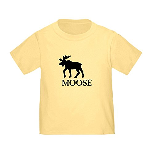 CafePress Moose Toddler T-Shirt Cute Toddler T-Shirt, 100% Cotton Daffodil Yellow