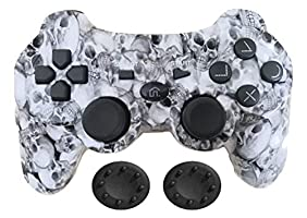 PS3 Controller Wireless - KPLN PS3 Remote Control Gamepad for PlayStation3, PS3 (Skull)