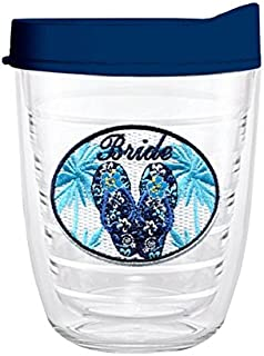 product image for Smile Drinkware USA-BRIDE HAWAIIAN 12oz Tritan Insulated Tumbler With Lid and Straw