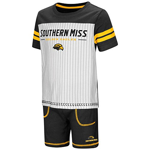 Colosseum Southern Miss USM Toddler Boy's Shorts and Baseball T-Shirt Set (4T)