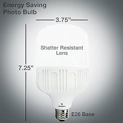 eTopLighting [4-Pack] Shatter-Proof 30W LED Light Bulb Edison E26/E27 Base, 15000 Life Hours, Garages, Work Sites, Home, Photo Studio, APL1483, Daylight White 6000K