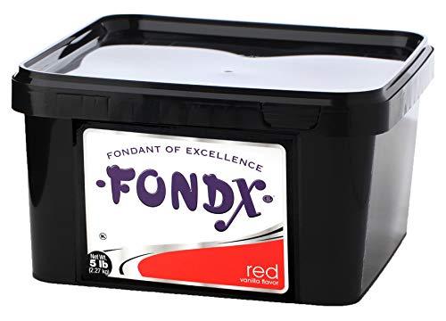 FONDX Rolled Fondant 5 lb - Vanilla Flavor, Red -