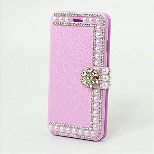 iPhone 6 Hülle,Apple iPhone 6 Hülle (4.7 Zoll) Lifetrut®[Rosa] Flip Case mit lebenslanger Garantie + Kartenfächern & Standfunktion