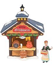 Department 56 Alpine Village Christmas Market Wine Booth Lit Building and Figurine Set, 5.2 Inch, Multicolor
