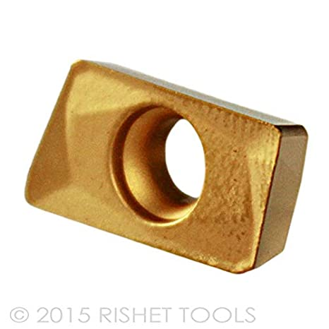 RISHET TOOLS 12788 APKT 1604 PDR-HM C2 Multi Layer TIN Coated Solid Carbide Inserts Pack of 10