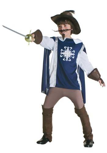[Fun Costumes ' Musketeer Costume Medium (8-10)] (Suede Renaissance Boot Costumes)