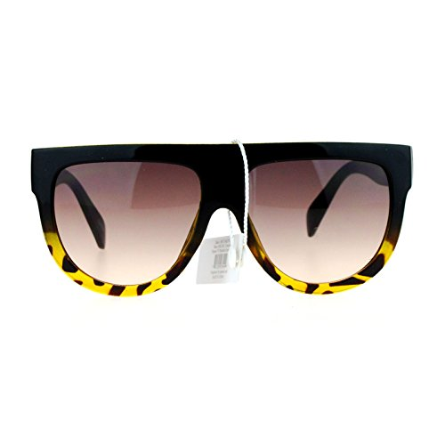 Womens Flat Top Thick Plastic Oversize Boyfriend Fit Sunglasses Black - Glasses Boyfriend
