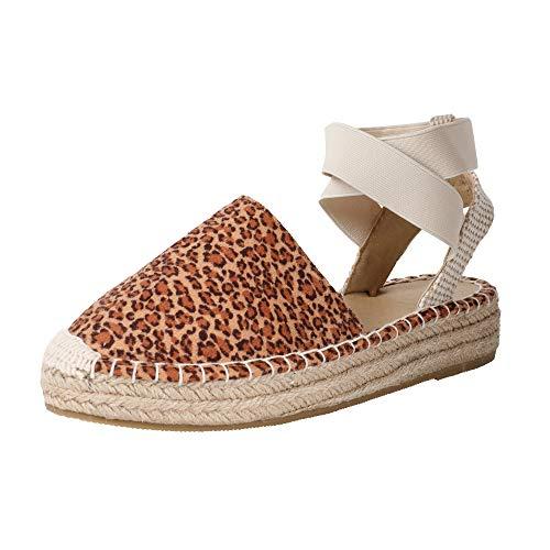 - Womens Strappy Slingback Espadrilles Platform Mid Wedge Sandal Cap Toe Elastic Band Criss Cross Summer Shoes