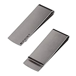 EQA02B03 Silver Perfect Fashion Stainless Steel Oktoberfest Smart Money Clip Card Holder Handmade Fabric By Epoint