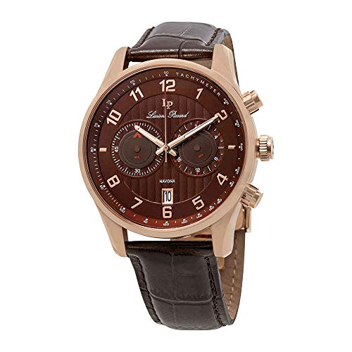 (Lucien Piccard Men's LP-11187-RG-04-BRW Navona Analog Display Quartz Brown Watch )