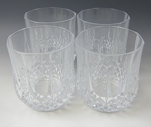 Cris Darques Crystal - Lot of 4 Cris D'Arques/Durand Crystal Longchamp-Clear Dbl Old Fashioned EXCELLENT