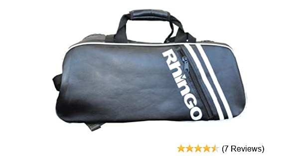 3e855bf07f Amazon.com   Rhingo Black Leather Big Zipper Duffel Gym Bag Backpack    Wrestling Equipment Bags   Sports   Outdoors