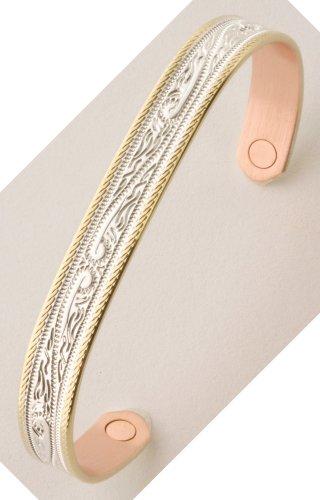 UPC 700413552706, Sabona 55270 Western Scroll Duet Magnetic Bracelet, Extra Large