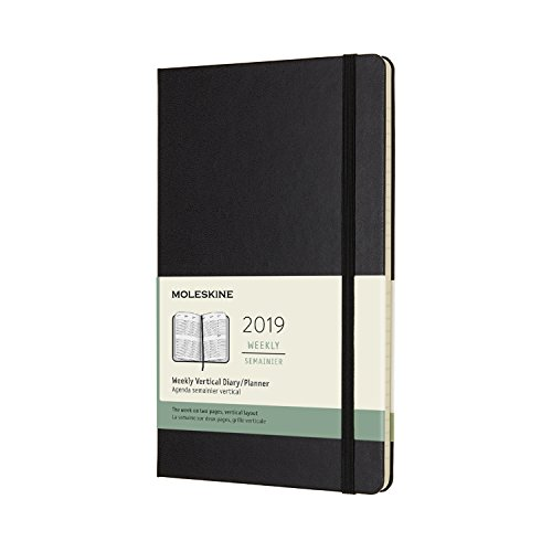 (Moleskine Classic 12 Month 2019 Weekly Planner, Hard Cover, Large (5