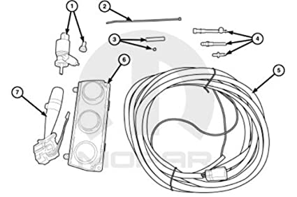 Pleasant Amazon Com Jeep Wrangler Mopar Hard Top Wiring Package W O Heated Wiring Cloud Favobieswglorg