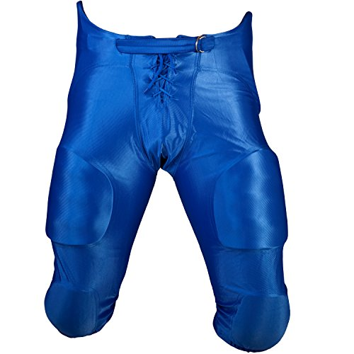 Cramer Football Game Pants, 7 Pads with Hip, Tailbone, Thigh, and Knee Pads, Youth Football Gear, High-Rise Hip Padding for Iliac Crest Protection, Designed for High-Impact, Royal Blue, Youth Small