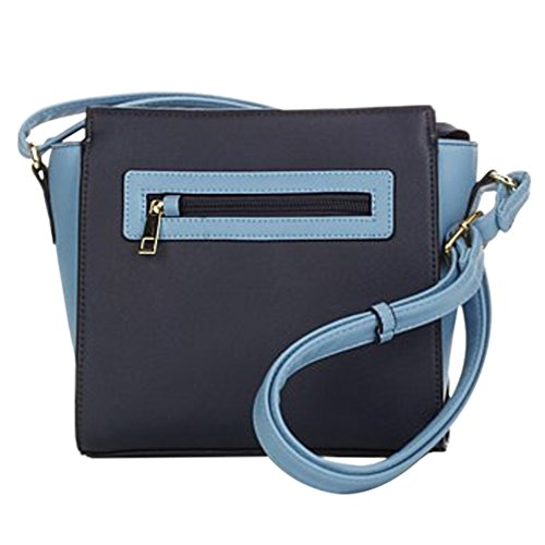 TravelSmith RFID Crossbody Bag with Anti-Theft Pacsafe Features - Navy/Light Blue