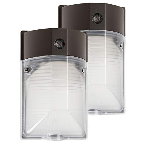 (LEONLITE 2-Pack 15W LED Wall Mount Light PHOTOCELL Included, DLC & UL-Listed Dusk to Dawn LED Wall Pack, 100-150W MH & HPS Eqv, 1600lm, 120V, 5000K, Outdoor, Entrance Security Light, 5-Year Warranty)