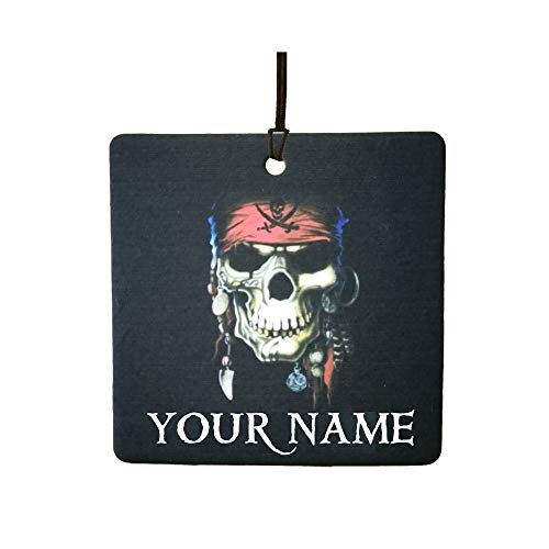 Personalised Pirate Skull/Halloween Car Air -